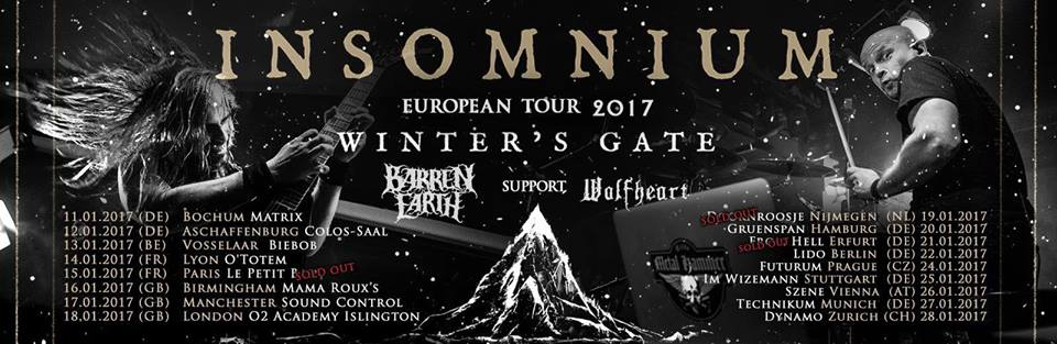 Report: Insomnium, Barren Earth and Wolfheart in Germany