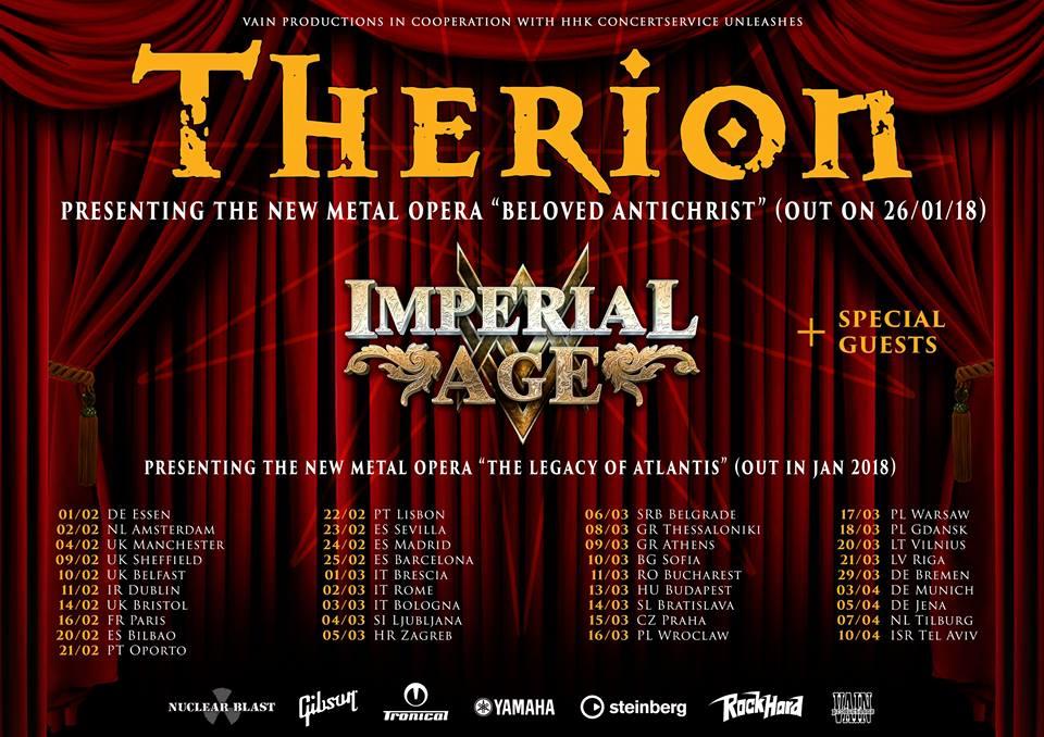 Therion oznamují datum vydání ambiciózní metalové opery a data evropského turné