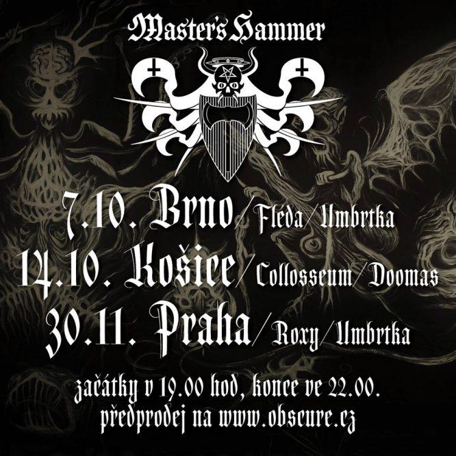 Master's Hammer čekají na podzim 3 koncerty