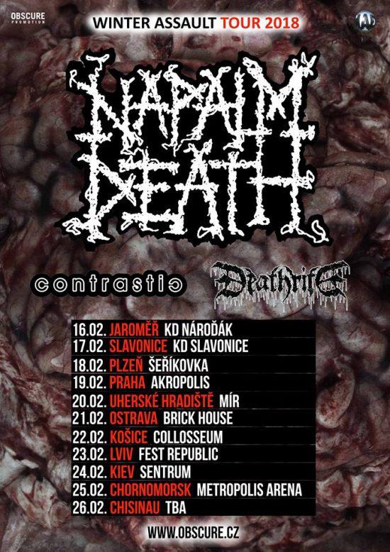 Únor ve znamení Napalm Death