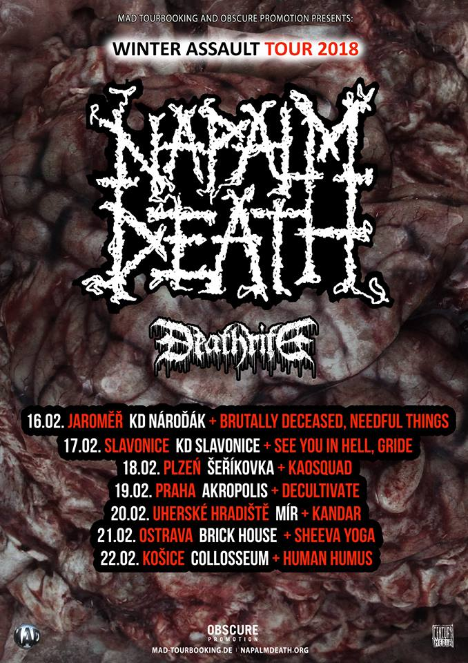Support kapely k tour Napalm Death