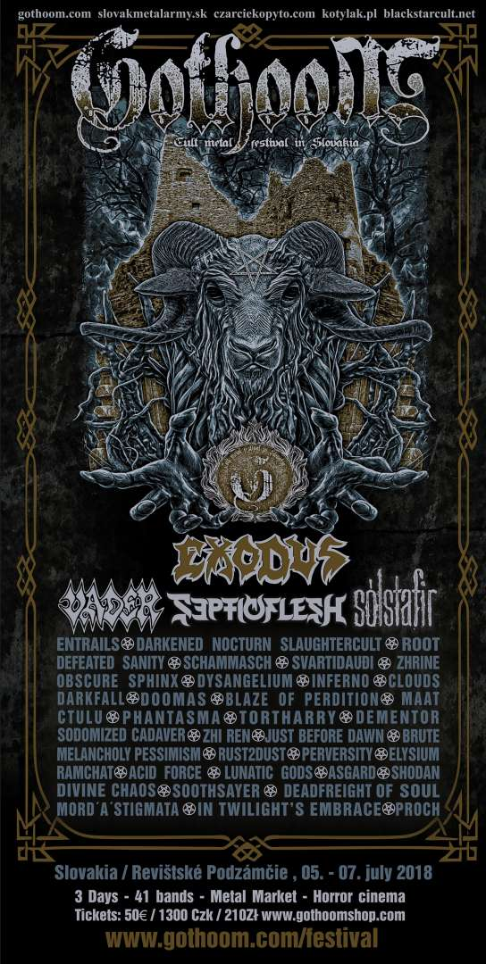 Gothoom Festival 2018 – známe Lineup