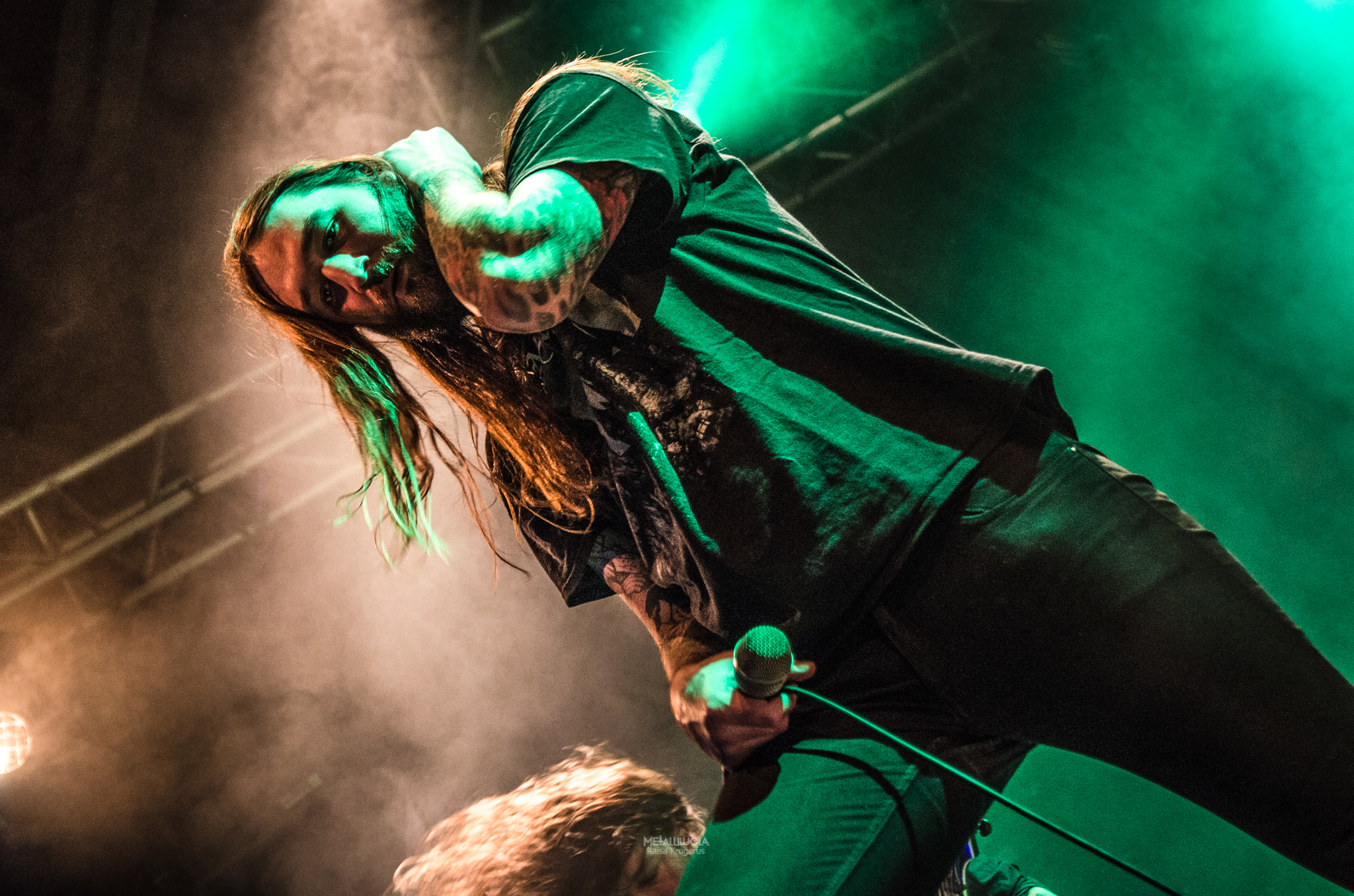 "Michael ""Jimbo"" Wahntraum on stage in Metal Crane 2018, Helsinki"