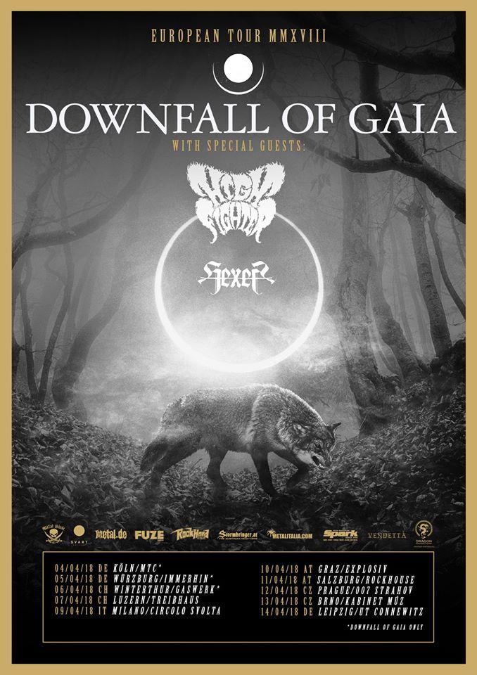 Report: Downfall of Gaia zahrála koncert, při němž mohl člověk pocítit chladné dno svého vnitřního rozpoložení