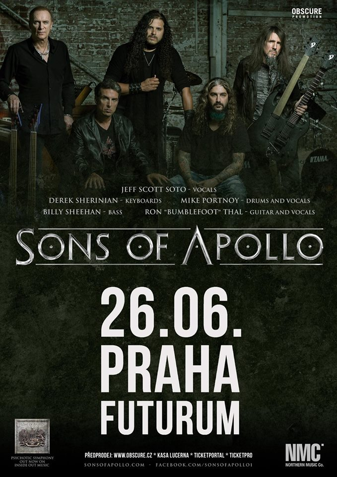 Superskupina Sons of Apollo se členy Dream Theater nebo Mr. Big v Praze!