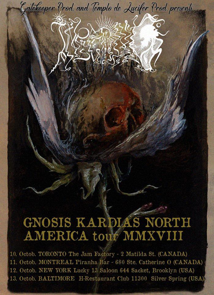 Inferno míří do Severní Ameriky v rámci Gnosis Kardias North America tour MMXVIII