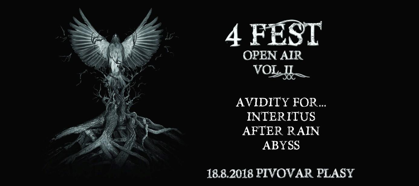 Avidity For… pokřtí své nové album v Plasech. Společnost jim budou dělat Interitus, After Rain a Abyss