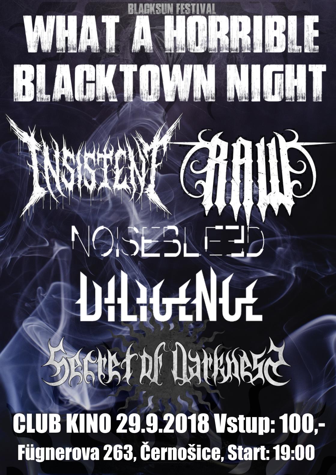 What a horrible Blacktown night - Jaká to odporná Černošická noc!