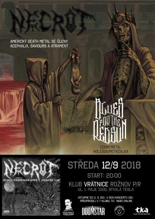 Američtí deathoví Necrot zahrají v Rožnově pod Radhoštěm!