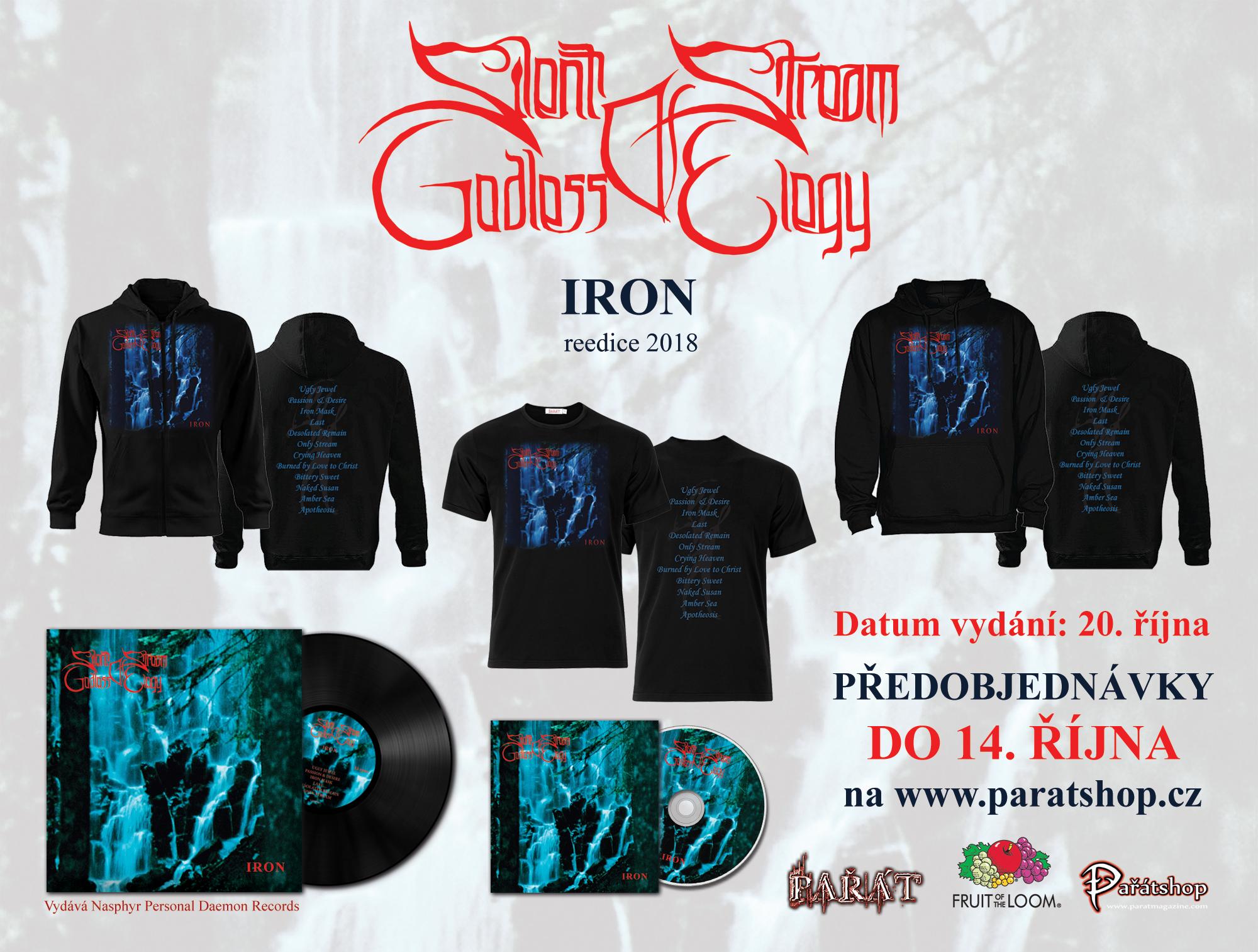 Pařát vydá v CD reedici první album SILENT STREAM OF GODLESS ELEGY a k němu nabízí možnost předobjednání merchandise