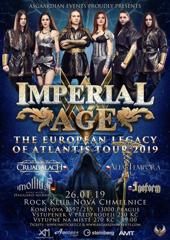 Imperial Age (Ru), Cruadalach, Alia Tempora, Molllust (De), Instorm v Praze